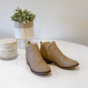 Restricted Perforated Tan Booties